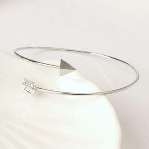 B2G1 🆓 Silver Arrow Open Cuff Bangle Bracelet